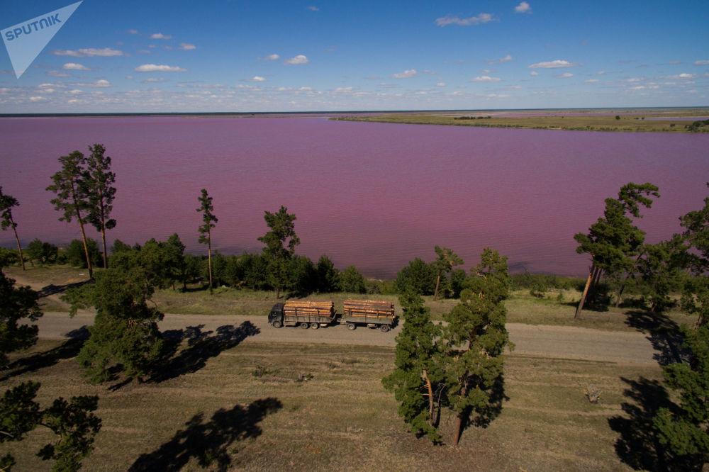 بحيرة التوت (مالينوفوي أوزيرو في منطقة ميخايلوفسكي في ألتاي، روسيا