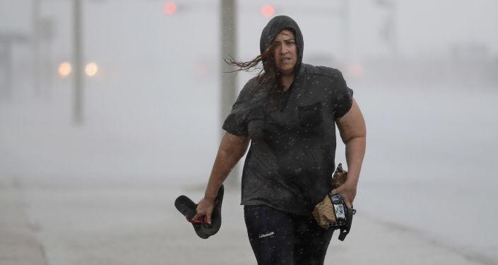 إعصار هارفي يضرب ولاية تكساس الولايات المتحدة، 25 أغسطس/ آب 2017