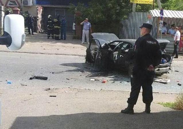 مكان الحادث في مدينة أوفا الروسية