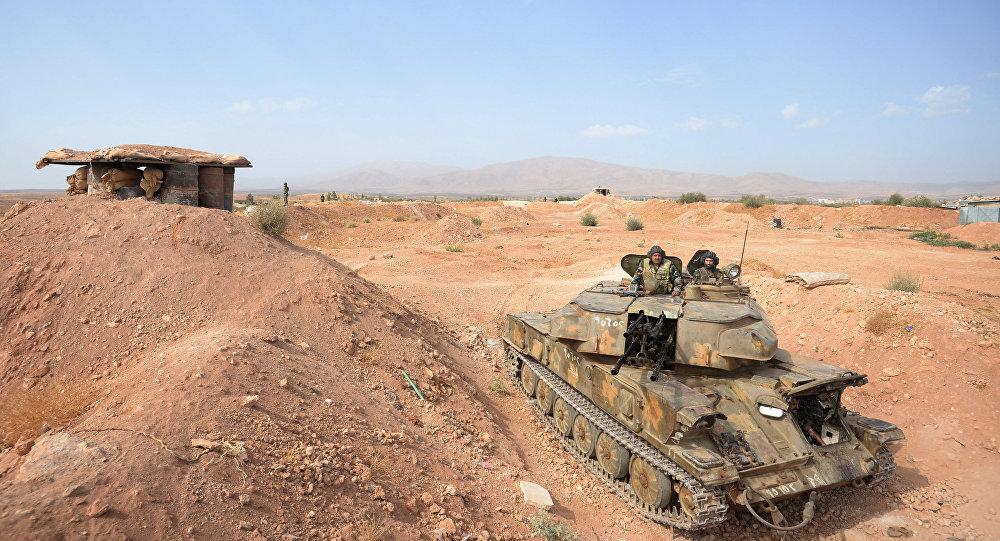 إحدى آلات مدفعية الجيش السوري