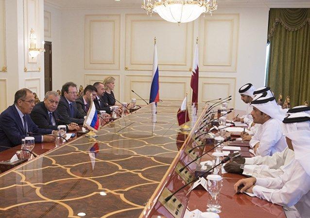 مباحثات وزير الخارجية سيرغي لافروف في قطر