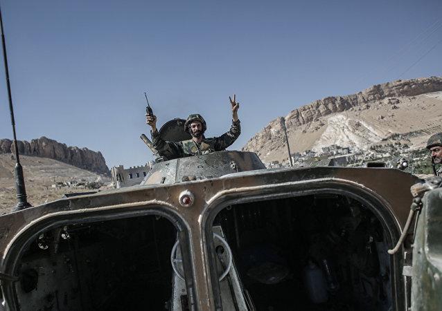 إحدى مدرعات الجيش السوري