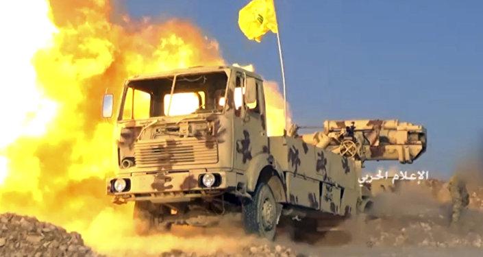قوات المقاومة حزب الله تطلق صواريخ باتجاه إرهابيين على الحدود اللبنانية السورية،21 يوليو/ تموز 2017