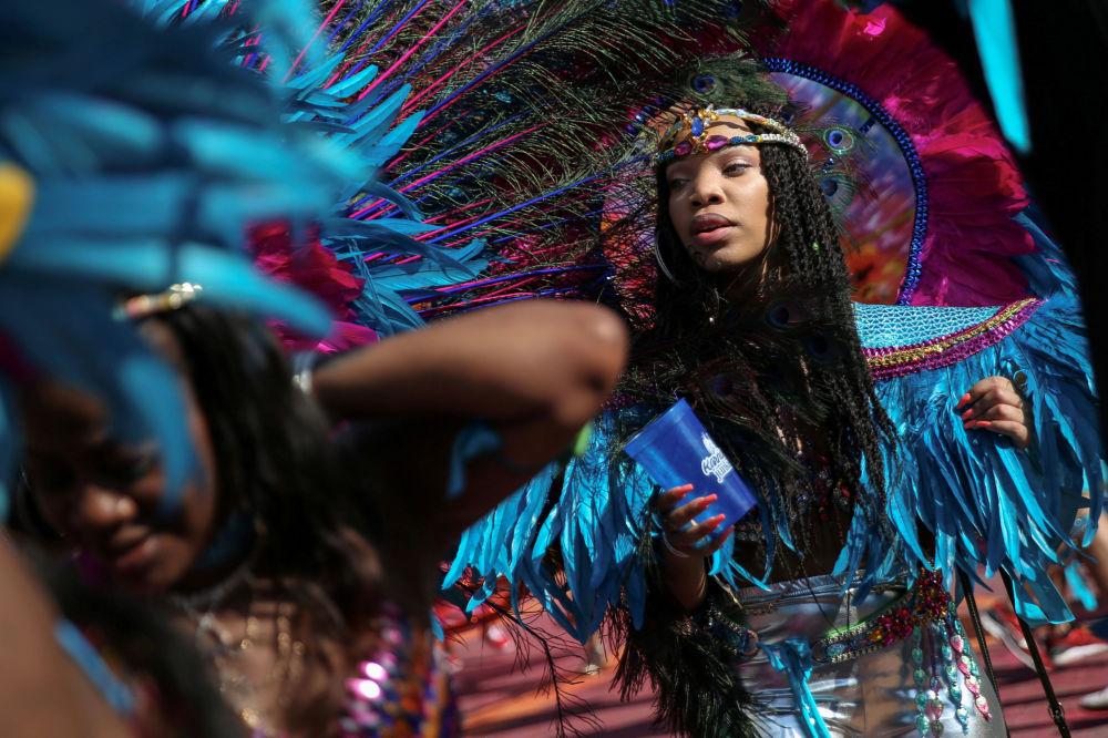 المشاركون في فعالية ويست انديان دي (West Indian Day) في بروكلين، نيويورك، الولايات المتحدة 4 سبتمبر/ أيلول 2017