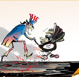العم سام ينقذ أطفاله من المطرقة السورية الروسية في دير الزور