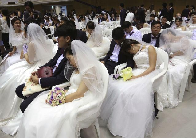 زواج جماعي في كوريا الجنوبية، 7 سبتمبر/ أيلول 2017