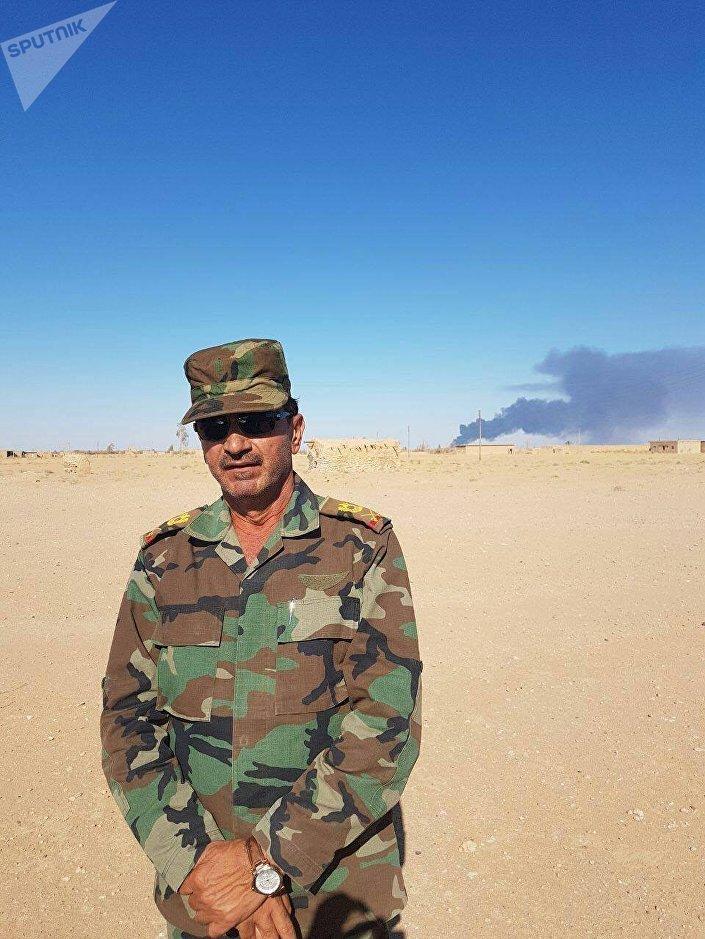 اللواء محمد خضور قائد العمليات العسكرية لفتح طريق دير الزور