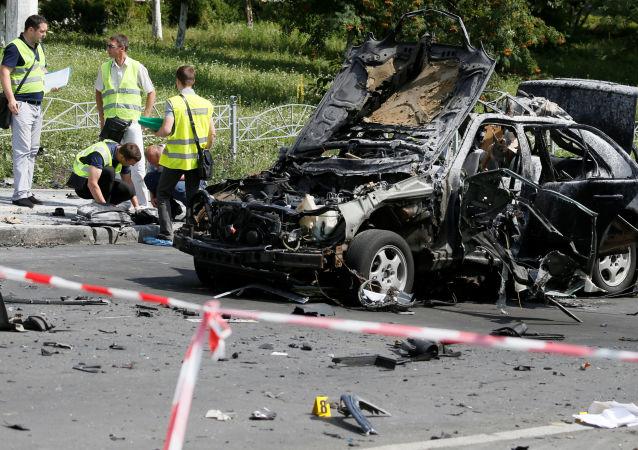 تفجير سيارة في كييف