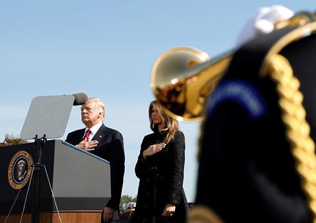ترامب وميلانيا في احتفالية ذكرى ضحايا هجمات سبتمبر
