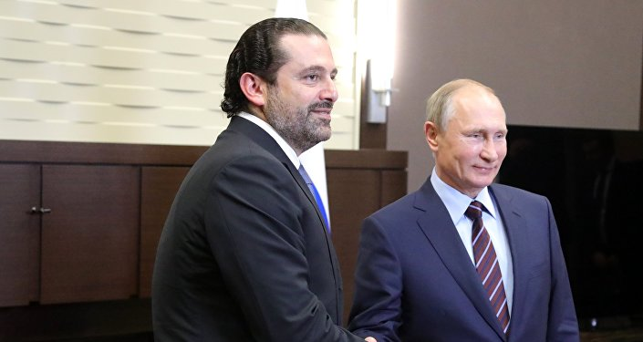 لقاء الرئيس الروسي فلاديمير بوتين مع رئيس الحكومة اللبنانية سعد الحريري