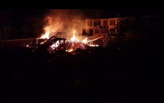 اندلاع حريق ضخم في القسم المحتل من الجولان السوري