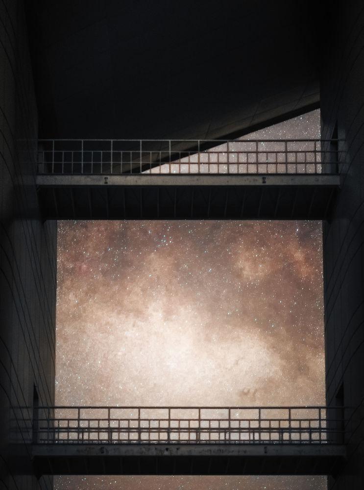 ممر إلى درب التبانة من قبل هايتونغ يو، الذي فاز بترشيح سكاي بينتينغ  في مسابقة رؤية المصور لعلم الفلك لعام 2017
