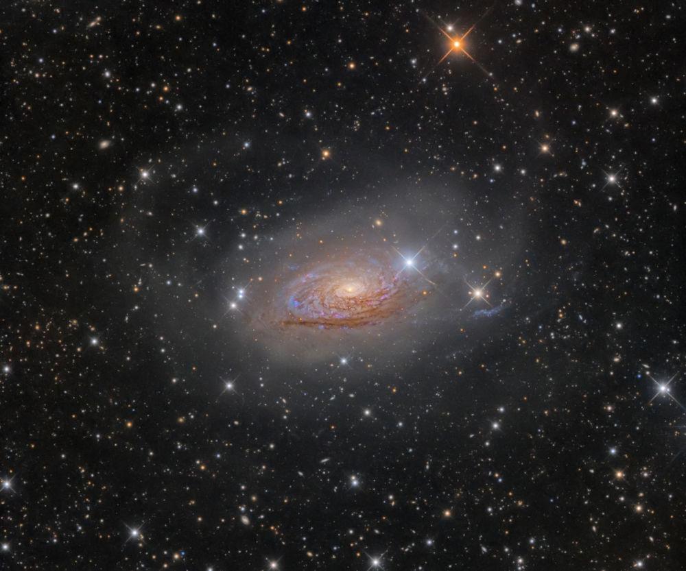 صورة إم63 ستار ستريمز و سونفلور غالاكسي من أوليغ بريزغالوف، الذي أصبح الفائز في ترشيح غالاكسي في مسابقة رؤية المصور لعلم الفلك لعام 2017