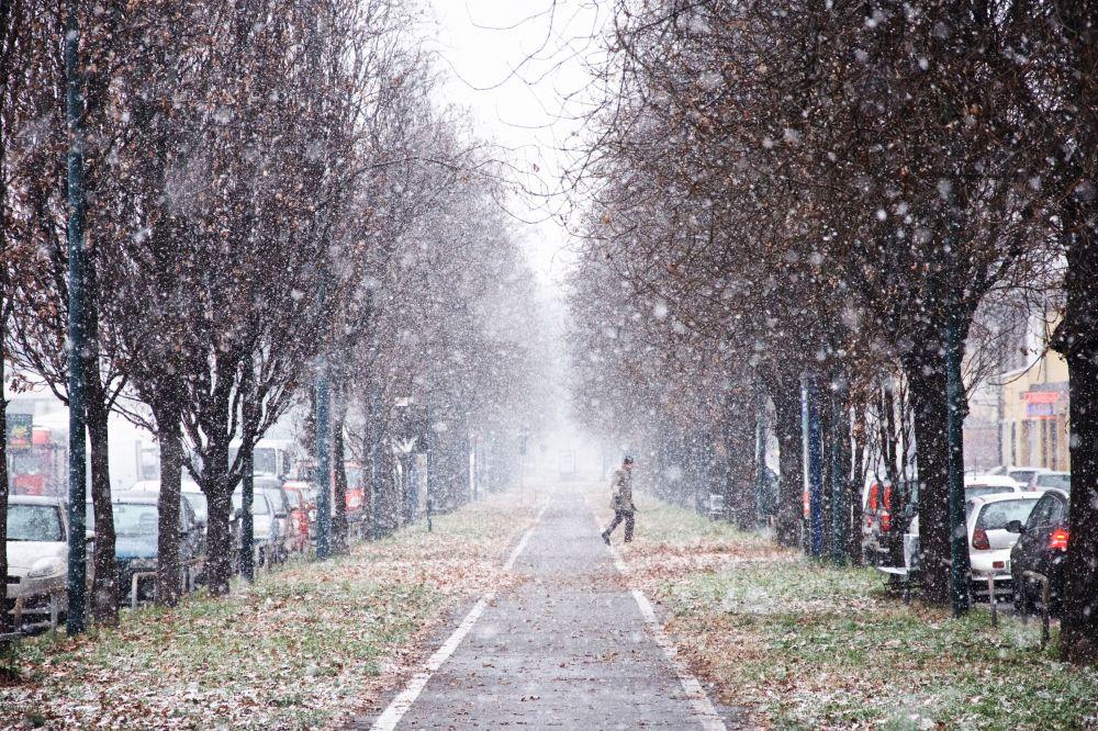 قماش أبيض من الثلج للمصور ، ماركو إيمازيو، الذي دخل نهائيات مسابقة مصور الطقس لعام 2017