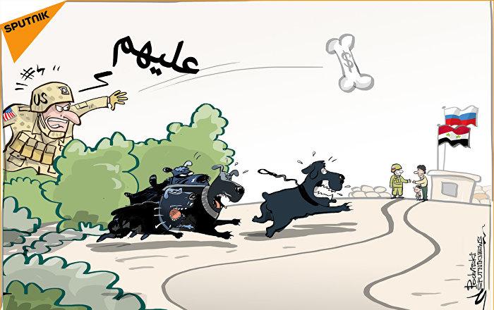 تشجيعالكلاب بالدولار على مهاجمة العسكريين الروس في سوريا