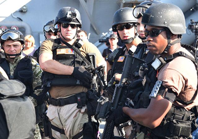 جنود أمريكيون خلال التدريبات العسكرية الأوكرانية - الأمريكية