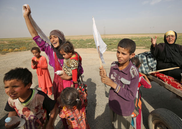 نازحون عراقيون من الحويجة، العراق 4 أكتوبر/ تشرين الأول 2017
