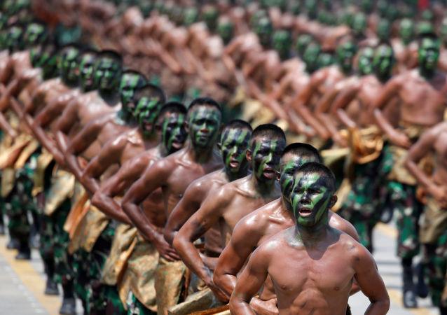 إحياء الذكرى الـ 72 لتأسيس الجيش الإندونيسي، إندونيسيا 5 أكتوبر/ تشرين الأول 2017