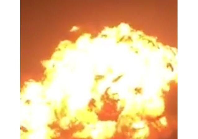 انفجار في محطة غاز