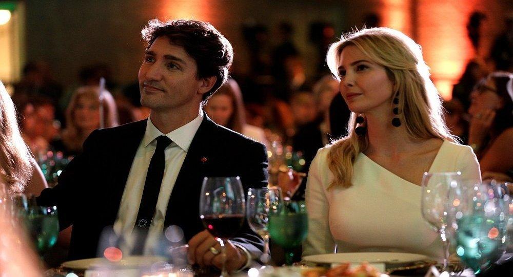 إيفانكا ورئيس وزراء كندا