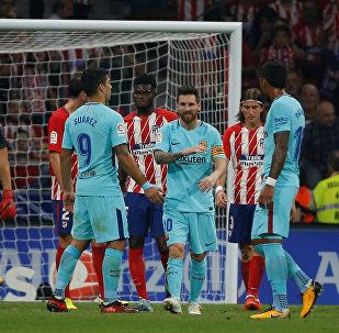 مبارة برشلونة  وأتلتيكو مدريد