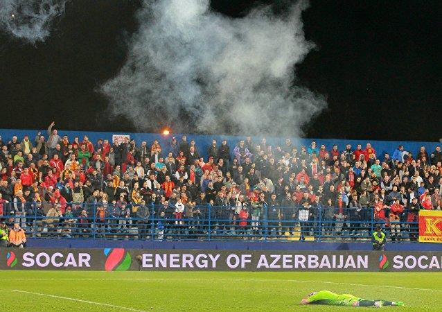 مباراة كرة القدم بين الجبل الأسود وروسيا