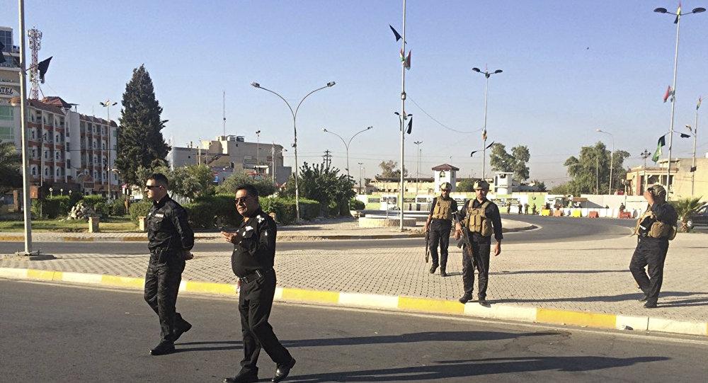 الشرطة المحلية في كركوك، العراق 16 أكتوبر/ تشرين الأول 2017