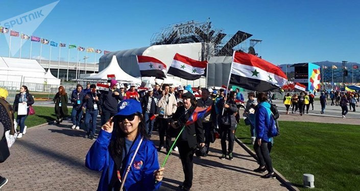 الوفد السوري في المهرجان العالمي للشباب والطلبة في سوتشي 2017