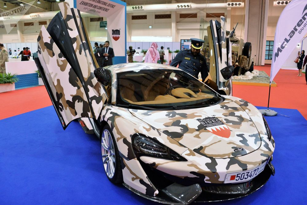 المعرض العسكري الدولي في البحرين (BIDEC-2017) - المركبة McLaren 570S Coupe