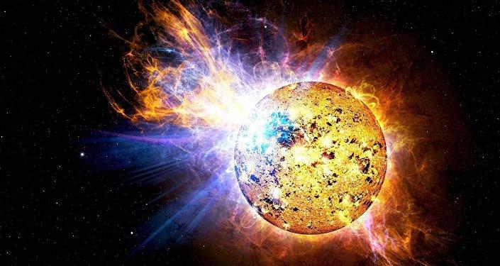 انفجار على الشمس