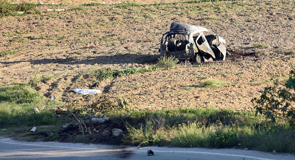 السيارة التي تفجرت بالصحفية المالطية دافني كاروانا غاليتسيا