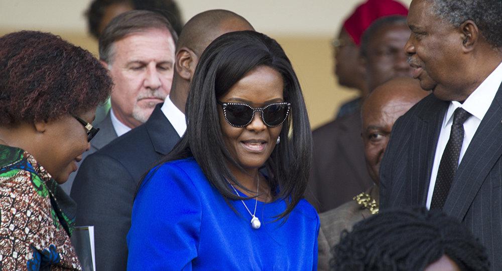 زوجة رئيس زيمبابوي غريس موغابي