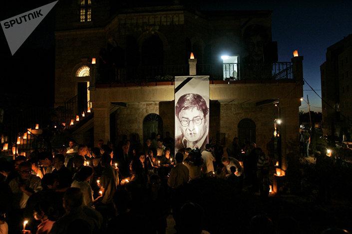 جنازة الشاعر محمود درويش