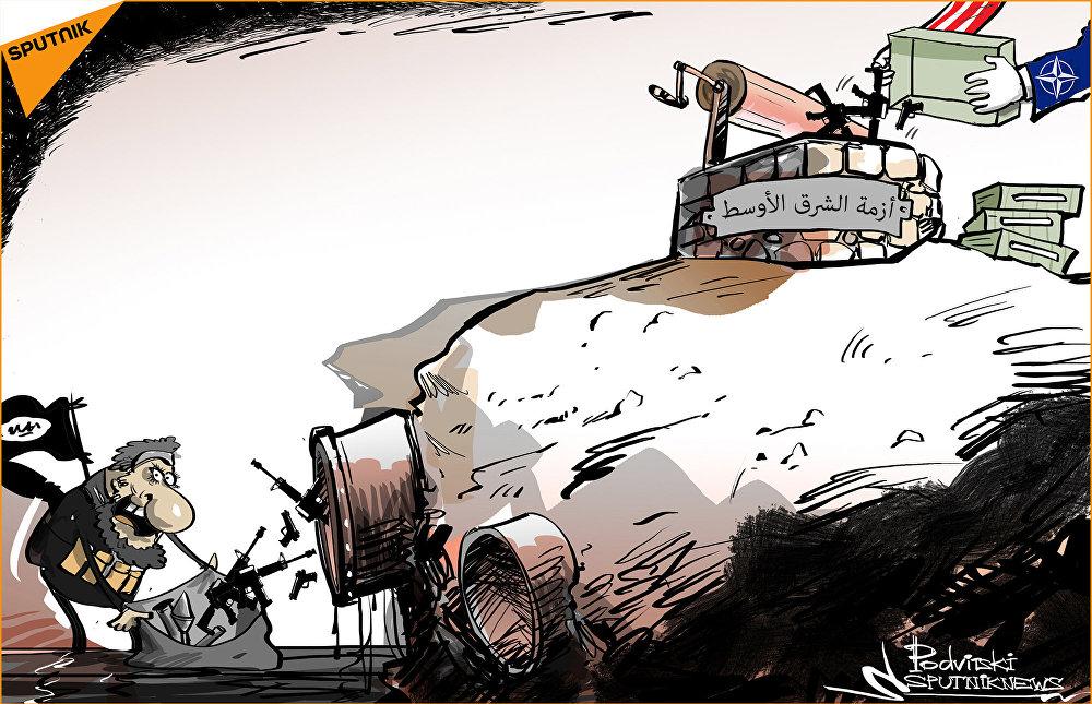 العثور على أسلحة حديثة في مستودع لـ داعش بالميادين السورية
