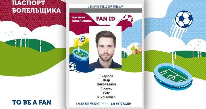 Новый паспорт болельщика, который будет применяться в период проведения Чемпионата мира по футболу FIFA 2018 в России