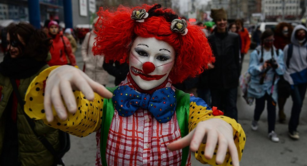 Halloween celebrated in Russian cities