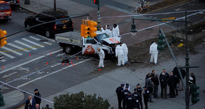 الشرطة في موقع هجوم مانهاتن