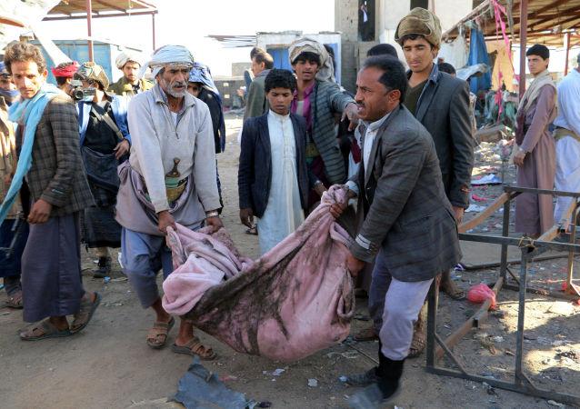 الضربات الجوية لقوات التحالف في صعدة، اليمن 1 نوفمبر/ تشرين الثاني 2017