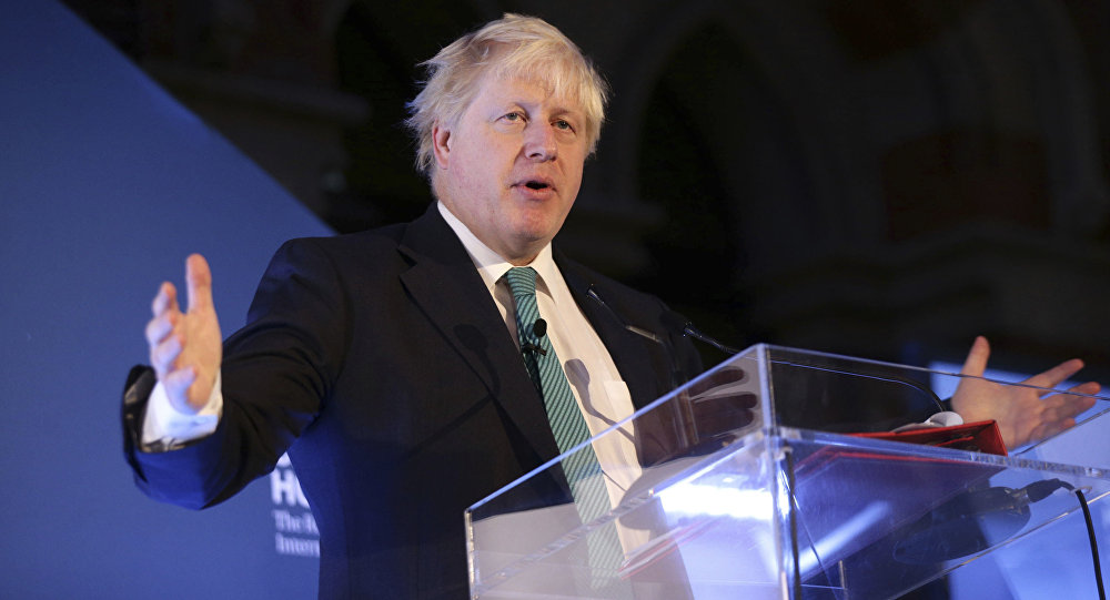 وزير الخارجية البريطانية بوريس جونسون في لندن، إنجلترا 23 أكتوبر/ تشرين الأول 2017