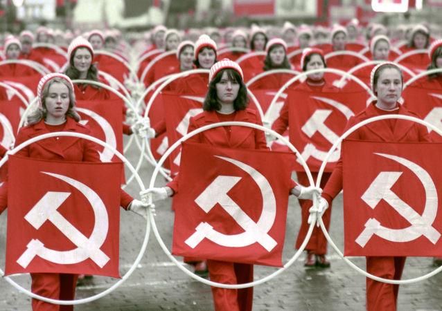 إحياء الذكرى الـ 58 لـ ثورة أكتوبر، 1917 على الساحة الحمراء في موسكو عام 1975