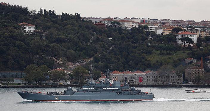 سفينة روسية حربية في البحر الأسود