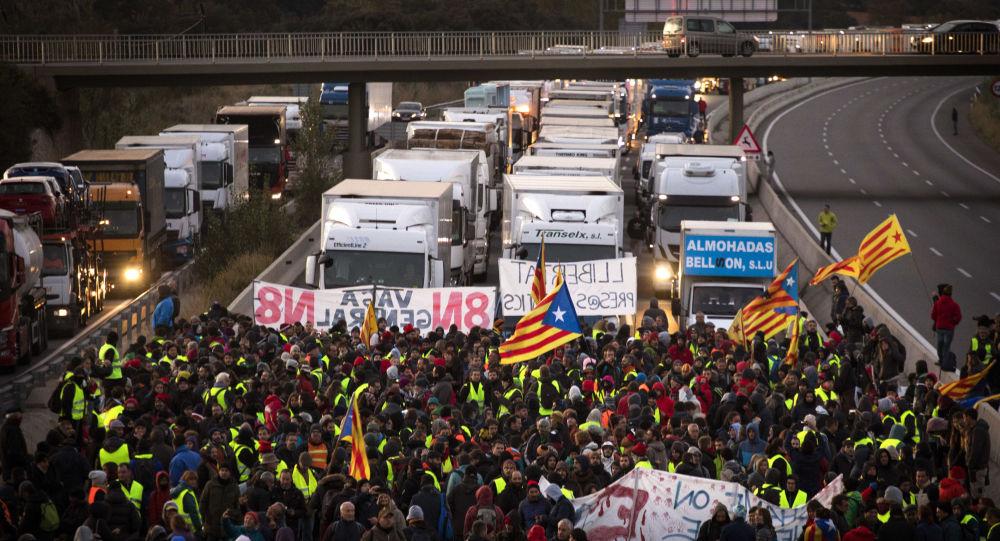 اضراب شامل في برشلونة، 8 نوفمبر/ تشرين الثاني 2017
