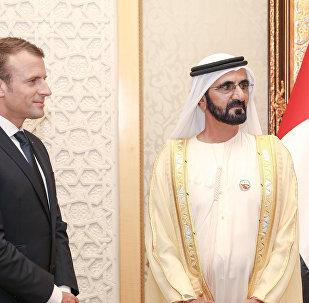 حاكم دبي وماكرون