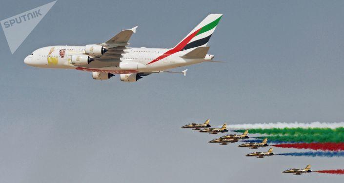 معرض دبي الجوي-الفضائي الدولي لعام 2017 (Dubai Airshow 2017) - طائرة آيروباص أ300-800 (A380-800)