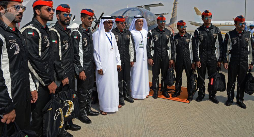 معرض دبي الجوي-الفضائي الدولي لعام 2017 (Dubai Airshow 2017) - فرقة الطيران الاستعراضي الإماراتية فرسان الإمارات