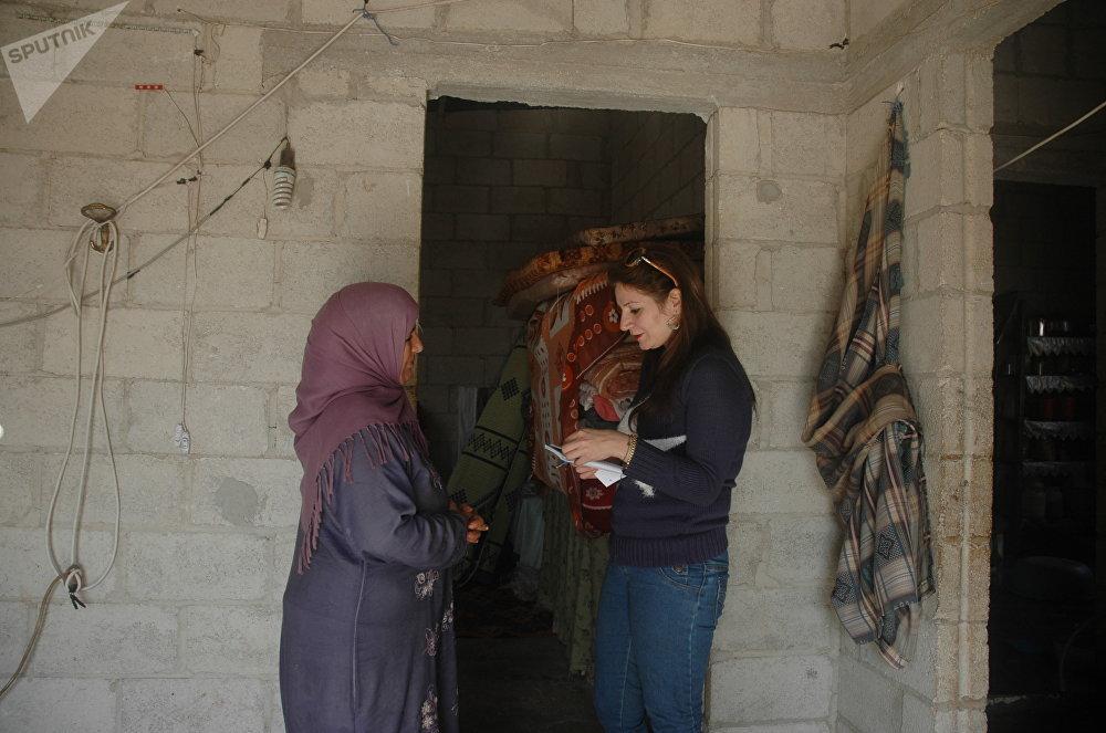 امرأة بعد تحريرها من داعش