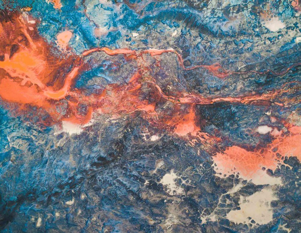 صورة النيران في الحفر في المناجم الأسترالية