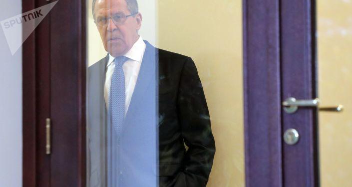 وزير الخارجية الروسي سيرغي لافروف في سوتشي، 22 نوفمبر/ تشرين الثاني 2017