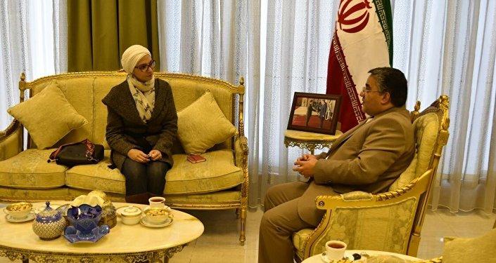 السفير الإيراني في الأردن مجتبى فردوسي بور خلال حواره لـسبوتنيك