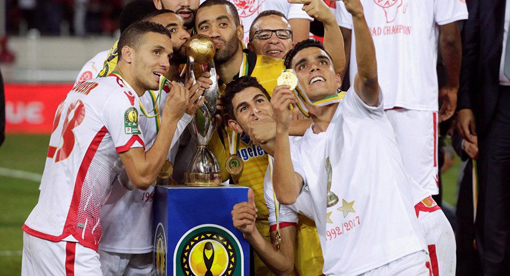 الوداد المغربي بعد فوزه بدوري أبطال أفريقيا